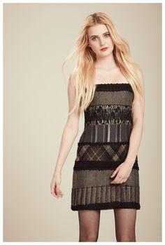 Francis Fall 2012 - Vivian mixed pattern strapless dress
