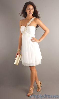 Party Dress, Graduation Dress, Short Ivory Dress - Simply Dresses