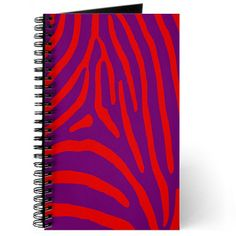 Shop Red and Purple Zebra Stripes Journal designed by ABDesigns. Lots of different size and color combinations to choose from. Purple Zebra, Red Purple, Red Energy, Coil Binding, Custom Journals, Journal Design, Art Clipart, Paint Shop, Textile Patterns