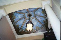 Stunning ceiling mural.