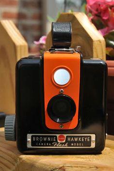 ORANGE Working Kodak Brownie Hawkeye Flash by highplacesphotos, $49.99