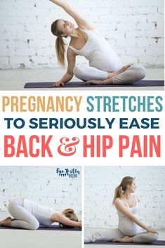 The Best Pregnancy Stretches for Back Pain: Feel the Relief! Simple stretches to relieve pregnancy back pain and hip pain. Tips to help your aches and pains during pregnancy. 6 helpful prenatal yoga exercises that will help you say ah! Pregnancy Back Pain, Pregnancy Care, Pregnancy Workout, Pregnancy Info, Happy Pregnancy, Pregnancy Calendar, Pregnancy Belly, Pregnancy Health, Back Pain
