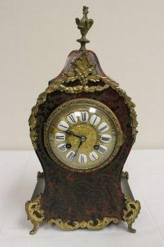 Antique French Boulle Clock By Bernard Lyon