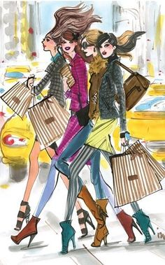 Let's go shopping.......  Illustration by:  Izak Zenou