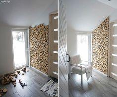 Plastry drewna na ścianie w wiejskim domu Small Space Interior Design, Home Room Design, Home Interior Design, Earthy Home Decor, Diy Home Decor, Wooden Wall Design, House Rooms, Home Bedroom, Home Decor Inspiration