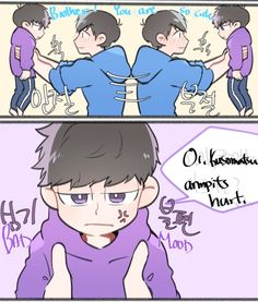 Osomatsu-san- Karamatsu and little Ichimatsu #Anime「♡」(2/3)