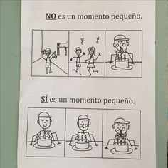 Learning about small moments/Aprendiendo sobre momentos pequeños.