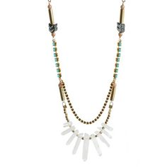 Kris Nations: Guadalupe Necklace Turq