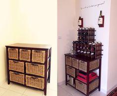 Transformation d'un ancien meuble en un meuble de rangement et dégustation de vin.  DIY Project: Transform an old/ugly furniture into a awasome Wine Rack