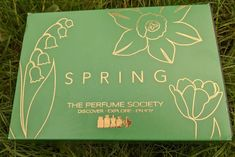 The Perfume Society Spring Discovery Box | I Scent you a Day Discovery Box, Mugler Angel, Perfume Reviews, Perfume Samples, Flower Bomb, Spring Theme, Lancome, I Fall In Love, Fragrance