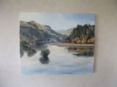 Morning on the River. Traditional New Zealand Art by KareNZGallery