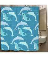 Dolphin Blue Sea Pattern Custom Print On Polyes... - $35.00 - $41.00