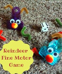 A cute game that practices counting and fine motor skills