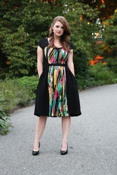 Super Online Sewing Match FINAL Entries | Sew Mama Sew   I LOVE this version of the Cambie dress!