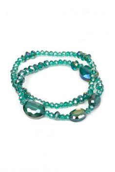 Type 2 Glistening Bracelet in Green - $12.97