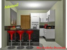 Resultado de imagem para cozinha pequena com ilha