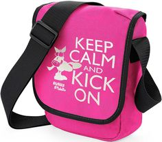 Funky Filly Keep Calm and Kick On Silver Horse Cross Body Shoulder Bag