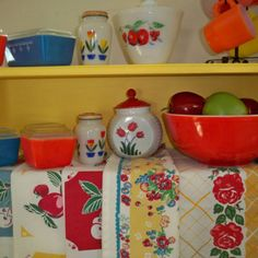 Kitchen stuff..I want the tulip items to go with my salt and pepper ones!!