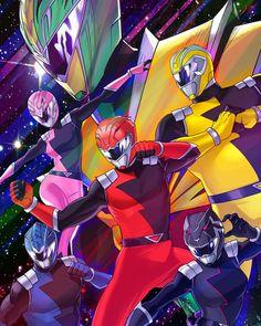 Power Rangers HyperForce Art - Artist: Lysergic 44 #∆∆shani