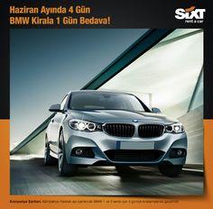 Haziran ayında, BMW 1 ve 3 serisi haftaiçi 4 gün kiralamalarınızın 1 günü Sixt'ten hediye!  www.sixt.com.tr #sixt #rentacar #sixtrentacar #kiralıkaraç