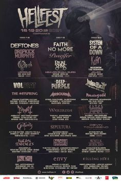 Best Metal Of 2021 80+ Best Metal Festivals images in 2020 | festivals around the