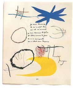 Joan Miró & Jacques Prévert, Je suis heureuse... from 'Adonides' on ArtStack #joan-miro-jacques-prevert #art