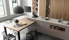 Meson's was designed to meet and surprise the most demanding users. For over 40 years Meson's designs and builds … Kitchen Room Design, Home Decor Kitchen, Interior Design Kitchen, Contemporary Kitchen Design, Minimalist Kitchen, Cuisines Design, Luxury Kitchens, Küchen Design, Design Moderne