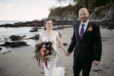 Jen + Jason were married at Willard Beach in South Portland, Maine in late October. Cascading bouquet with flowers in rich, jewel tones. Floral design by: Pretty Flowers, Brunswick, ME South Portland Maine, Fine Gardening, Cascade Bouquet, Wedding Flowers, Wedding Dresses, Pretty Flowers, Landscape Design, Floral Design, Fisher