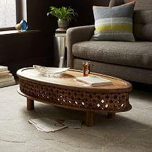 Beau Carved Wood Coffee Table