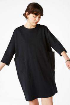 Monki Image 1 of Sweatshirt dress  in Black