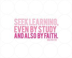 Seek Learning {Free Print}