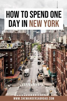 Planning to visit NYC but you will only have 24 hours in the city? No worries! Follow this one day in New York City itinerary to see the best of NYC in a day! | NYC one day itinerary | New York City one day itinerary | 1 day in NYC | NYC travel guide | New York Travel Tips | NYC travel tips | New York in a day | A day in New York City | NYC layover | New York City layover | New York one day trip | 24 hours in NYC | 24 hours in New York City | NYC things to do in a day | NYC must see… Usa Places To Visit, Visit Usa, Places To Go, Top Places To Travel, Usa Travel Guide, Travel Usa, Travel Tips, Canada Travel, Travel Ideas