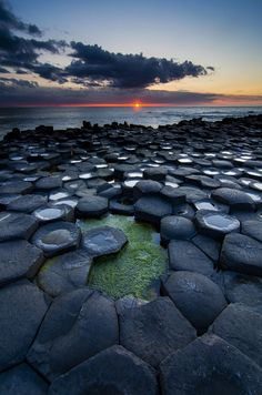 ata-raxie: Causeway Sunset - Antrim, Northern Ireland by Graham Kelly Water Photography, Travel Photography, Irish Sea, Amazing Destinations, Northern Ireland, Terra, Beautiful World, Beautiful Sunset, Wonders Of The World