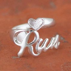 Run Sterling Silver Ring   Sterling Silver Running Jewelry I really want one!