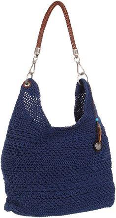 SAK Hobo bag--love the handle!Beautiful Tote Bags For Womens & Girls Crochet Tote, Crochet Handbags, Crochet Purses, Love Crochet, Knit Crochet, Handmade Handbags, Handmade Bags, Crochet Shoulder Bags, Diy Handbag