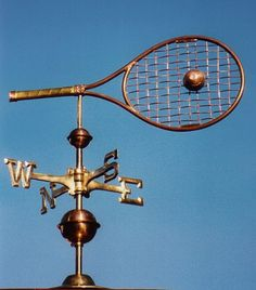 www.ultimatetennisart.com tennis racquet weather vane