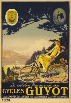 Artist Unknown Poster: Cycles Guyot