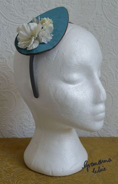 Handmade Fascinator by Grandma Chic 'Teal' £23.00