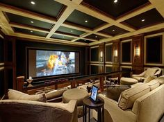 Billionaire Mansions Movie Room One End - To Another