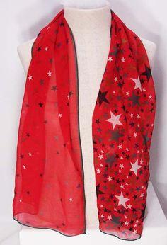Vintage America Perry Ellis Patriotic Stars Scarf