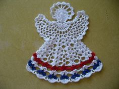 Crocheted Beautiful Large Angel Tree Ornament Table by TheLooks