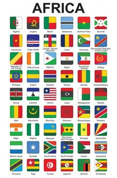 Set of push buttons with African countries flags vector illustration All World Flags, World Map With Countries, Countries And Flags, World Flags With Names, African Countries Map, Paises Da Africa, Africa Flag, World Country Flags, Country Maps