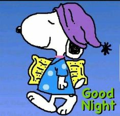 Snoopy Going To Bed snoopy good night pictures snoopy good night quotes cartoon snoopy