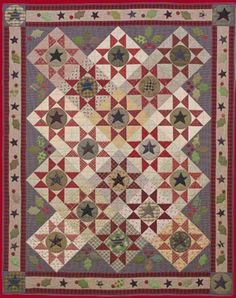 Stars and Holly Berries quilt pattern by Norma Whaley, Timeless Traditions Quilts