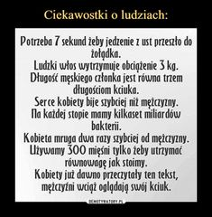 Ciekawostki o ludziach: Useless Knowledge, Polish Language, Funny Mems, English Memes, Everything And Nothing, Funny Stories, Wtf Funny, Texts, I Am Awesome