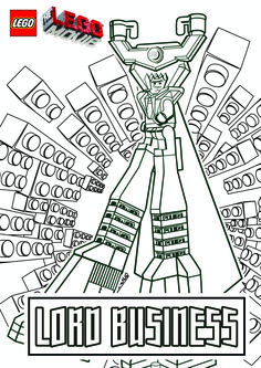 The Lego Movie Coloring Pages Lego Minifigures