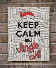 Keep Calm and Jingle On Christmas Canvas Wall Art with by StoicDesign