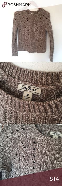 Lucky Brand Sweater Lucky Brand Sweater in excellent condition, 61% Cotton, 30% Polyester, 9% Wool Lucky Brand Sweaters