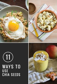 How to Use Chia Seeds: 11 New Ways | http://hellonatural.co/11-ways-incorporate-chia-seeds/