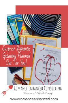 Do You Love Surprises? How about a Surprise Romantic Getaway, where you open envelopes to find out where you are going and what romantic things have been planned and catered for you and your sweetheart~? If you are saying YES- Then click the link below to find out more about Romance Enhanced Consulting's Romantic Getaway Packages and Deals. #romanticgetaway #romantichelp #romanticgift #romanticweekend #romanticvacay #romanticplans #romantichelp #romantictips #relationshipgoals #couplegoals Romantic Weekend Getaways, Romantic Vacations, Romantic Getaway, Romantic Things, Relationship Goals, Envelopes, Make It Simple, How To Find Out, Romance